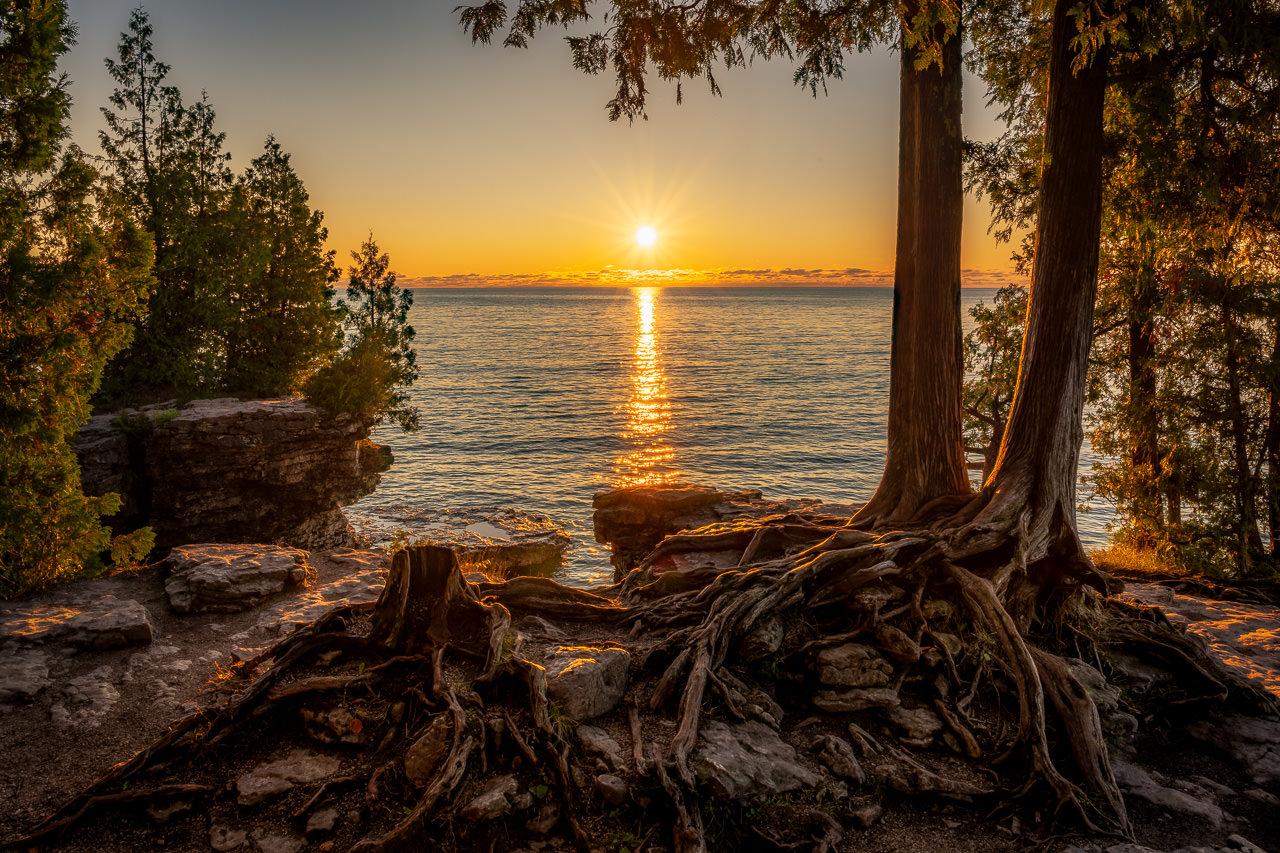 Cave Point Sun
