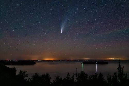 Comet over Door County