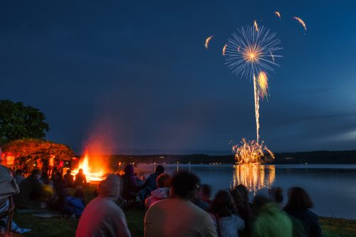 Fireworks over Fyr Ball