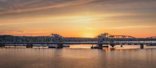 Sunset and the Steel Bridge