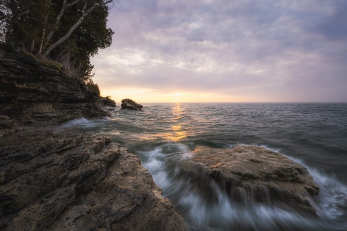 Morning Light By The Rocks