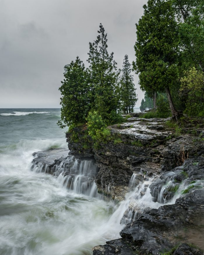 Cave Point Falls