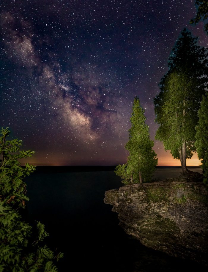 Cave Point Night