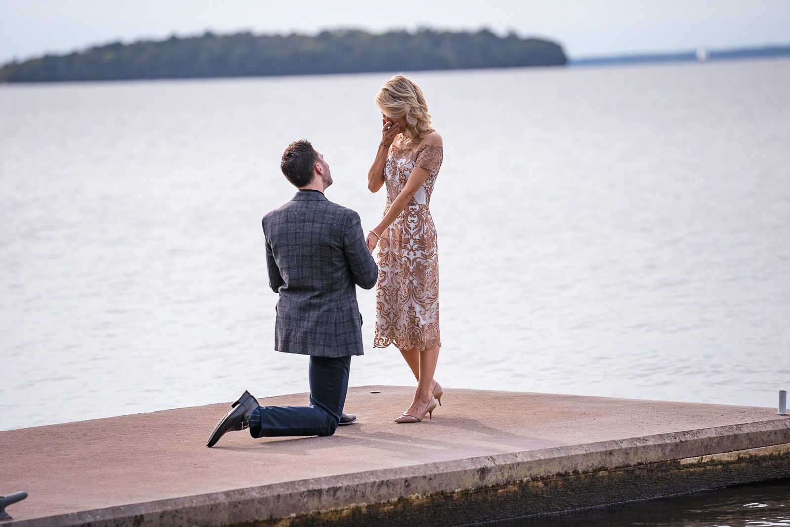 door county proposal by the water, engagement session
