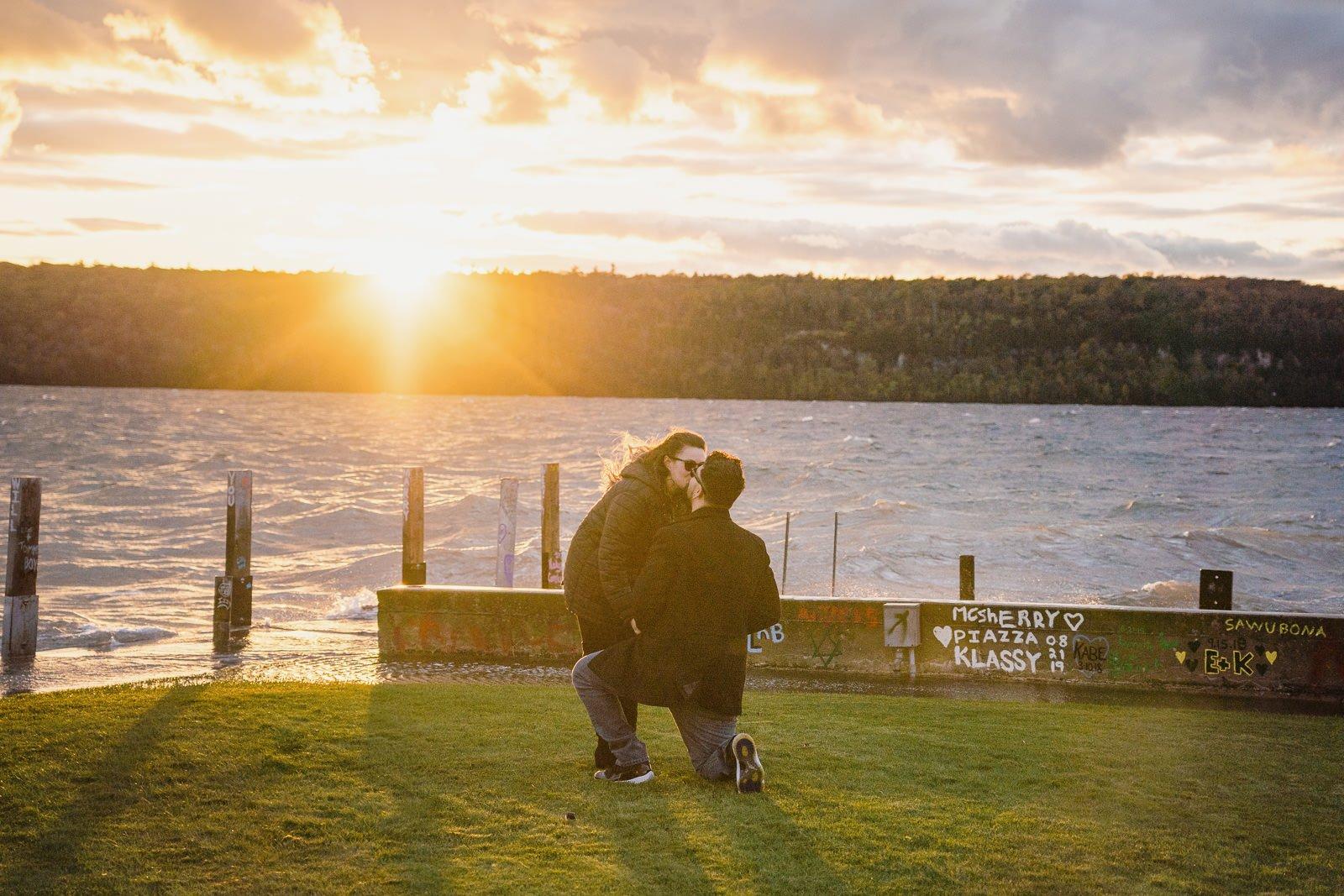 door county proposal, proposal photographer, proposing, engagement