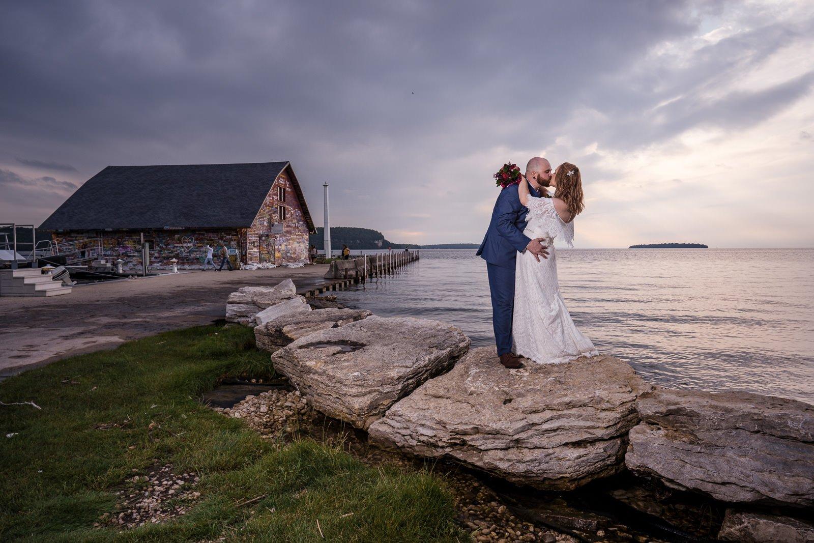 door county scenic wedding photos