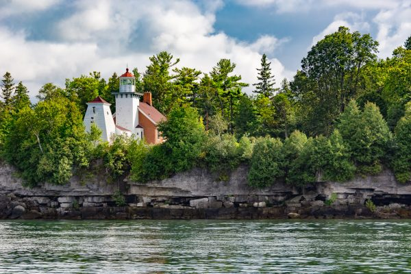 sherwood point lighthouse in sturgeon bay, door county, wisconsin