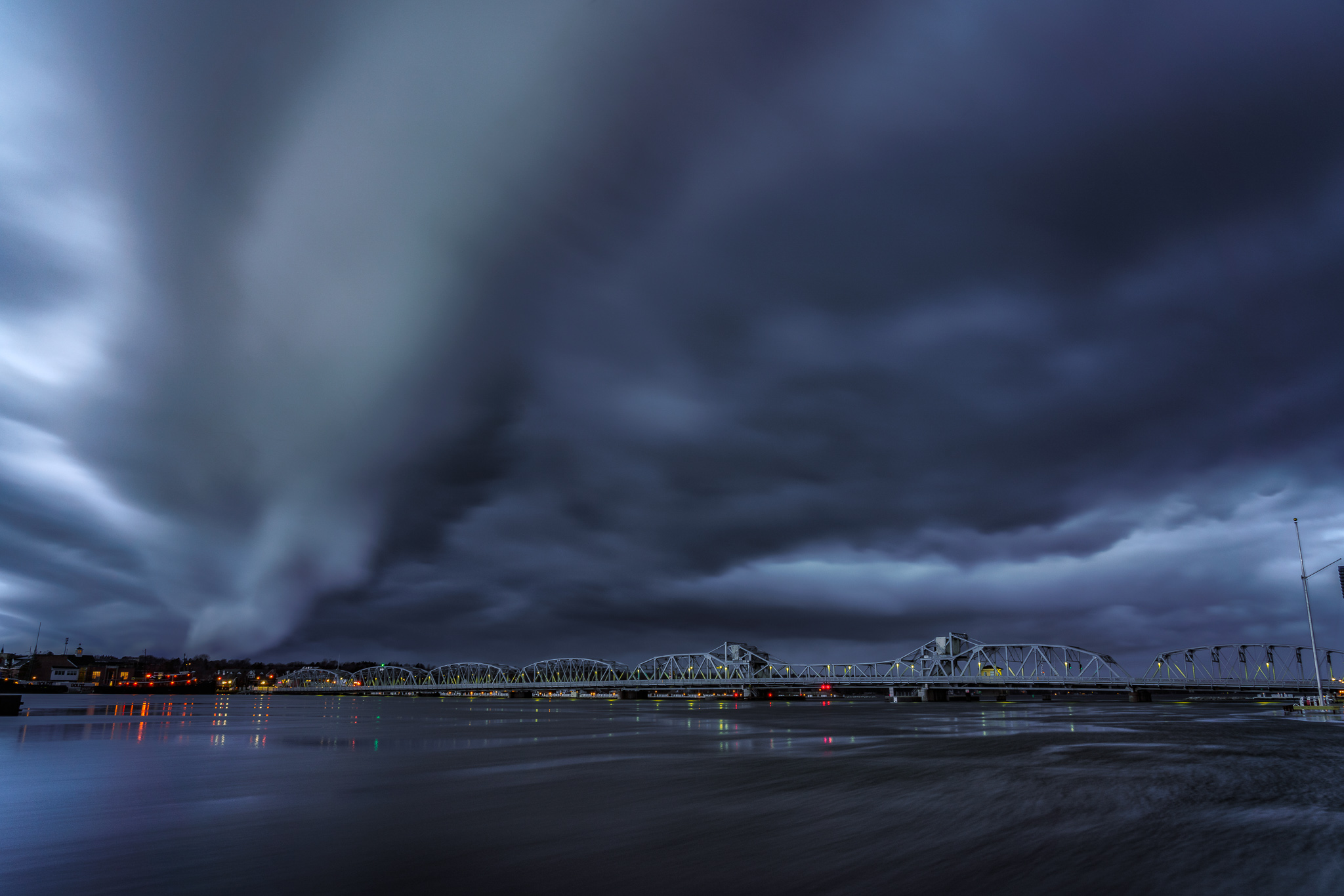 storm coulds, sturgeon bay, door county, wisconsin